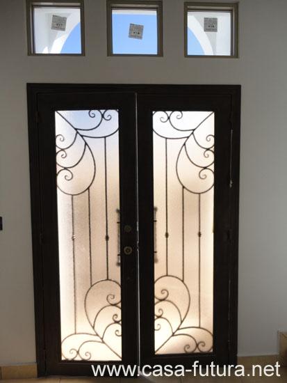 3 puerta principal vitral for Puerta principal casa
